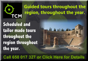 English language guided tours of Cartagena, Murcia and throughout the Region