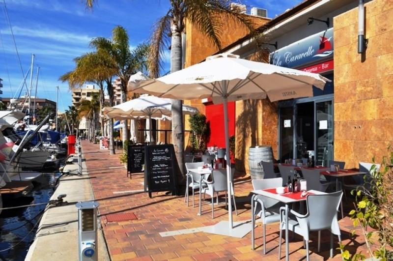 La Caravelle French restaurant in the marina of Puerto de Mazarrón