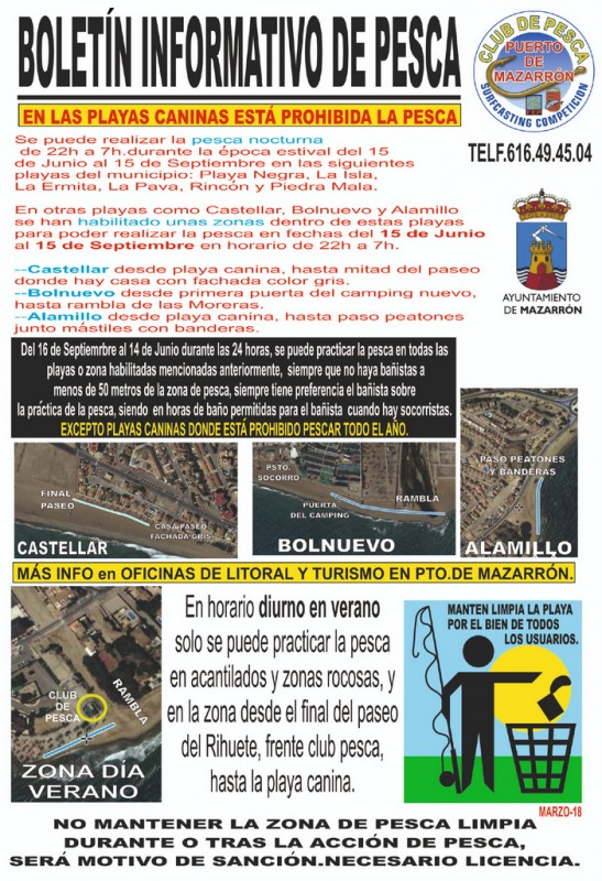 Fishing permitted on Mazarrón beaches all year: rules and regulations