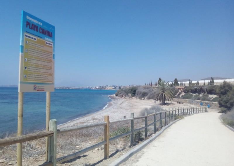 <span style='color:#780948'>ARCHIVED</span> - Playa de la Calera, new dog friendly beach between Isla Plana and La Azohía