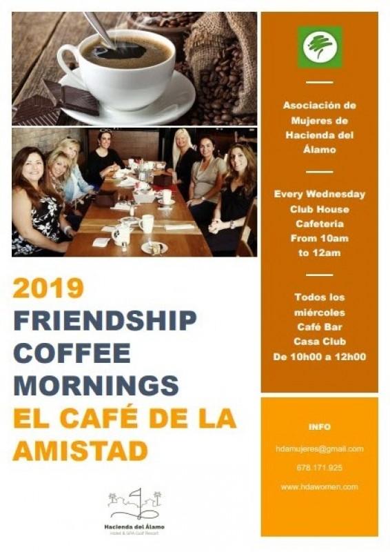 Every Wednesday coffee morning for ladies on Hacienda del Álamo resort in Fuente Álamo