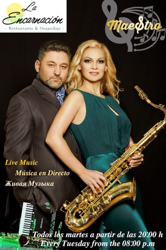 <span style='color:#780948'>ARCHIVED</span> - Every Tuesday the Hotel Encarnación in Los Alcázares offers live entertainment