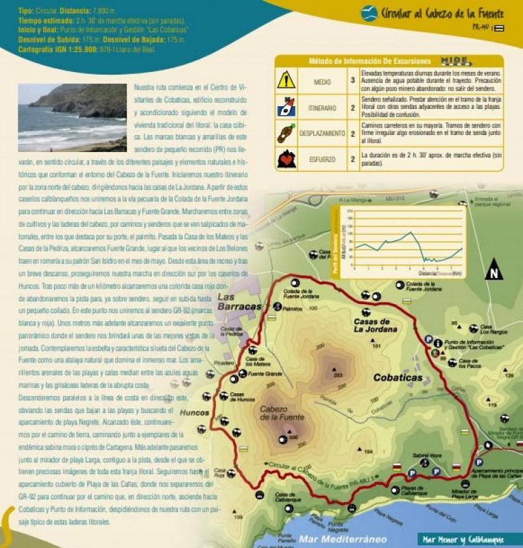 The PR-MU 1 walking route on Cabezo de la Fuente in the regional park of Calblanque