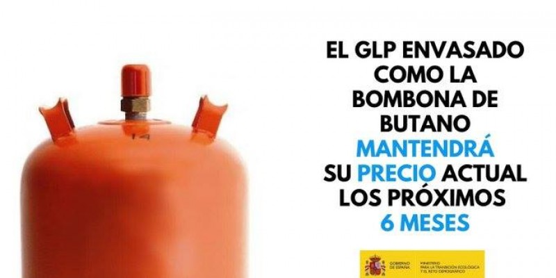 Gas bottle prices frozen for 6 months to combat corona virus crisis