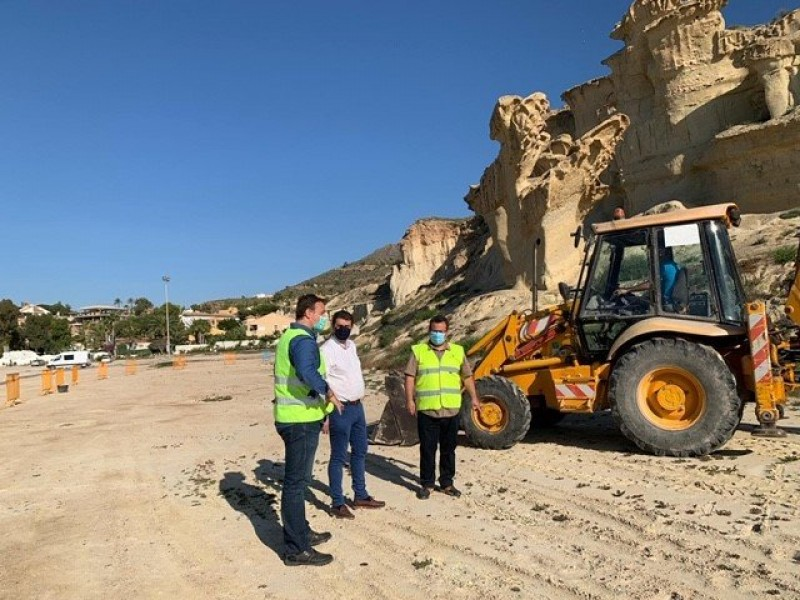 <span style='color:#780948'>ARCHIVED</span> - Work begins to protect the Bolnuevo Erosions