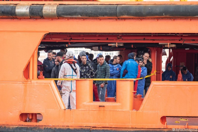 <span style='color:#780948'>ARCHIVED</span> - Three out of 108 illegal migrants detained off Cartagena coast are Covid positive