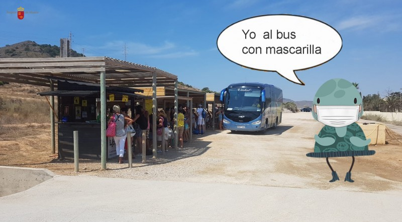 <span style='color:#780948'>ARCHIVED</span> - Calblanque 4:40 bus service begins on 11th July to beaches of Calblanque regional park