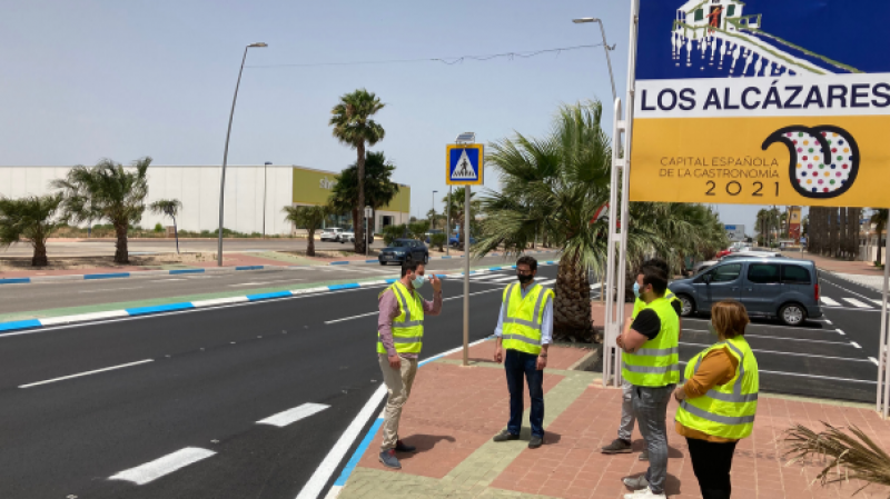 <span style='color:#780948'>ARCHIVED</span> - Road improvements to Avenida Libertad and Avenida Cartagena in Los Alcázares completed