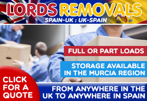 Lords Removals and Storage,  full or part loads UK-Spain