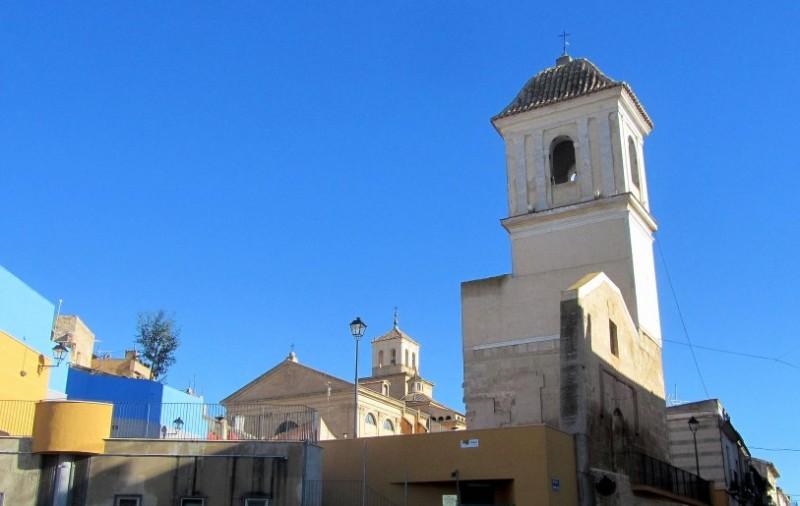 Church tower of Santa María del Arrabal in Jumilla