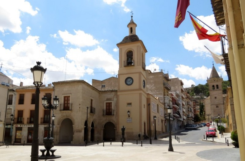 The Torre del Reloj, the clock tower of Yecla