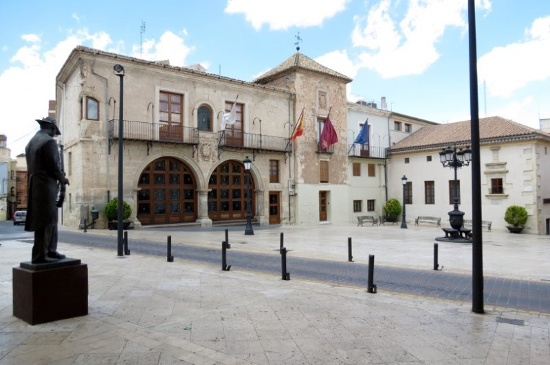 The Town Hall in the Plaza Mayor of Yecla