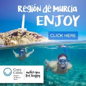Murcia Turistica enjoy banner WHATS ON
