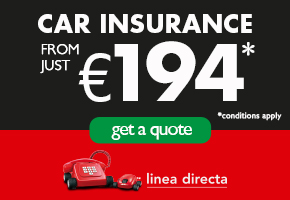 Linea Directa CAR INSURANCE TOP OF HOME PAGE